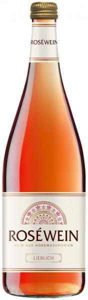 Roséwein aus Nordmazedonien, lieblich, 2020, 1.0 l