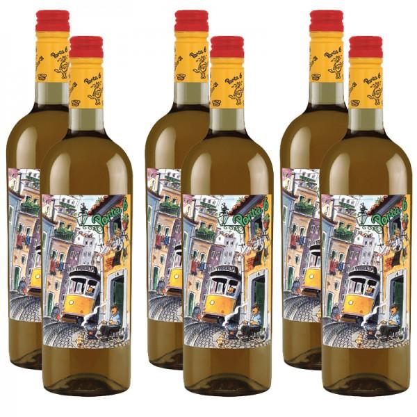 6 Flaschen PORTA 6 Vinho Branco Lisboa, 2017