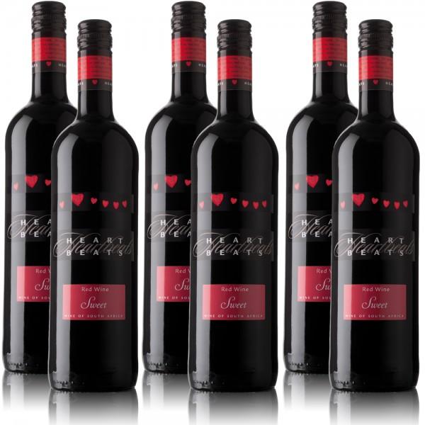 6 Flaschen Heartbeats Rotwein Südafrika, süss (6 x 0,75 l)