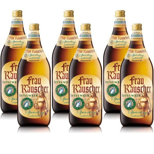 6 Flaschen Frau Rauscher Äpfelwein Speierling, naturtrüb, á 1L