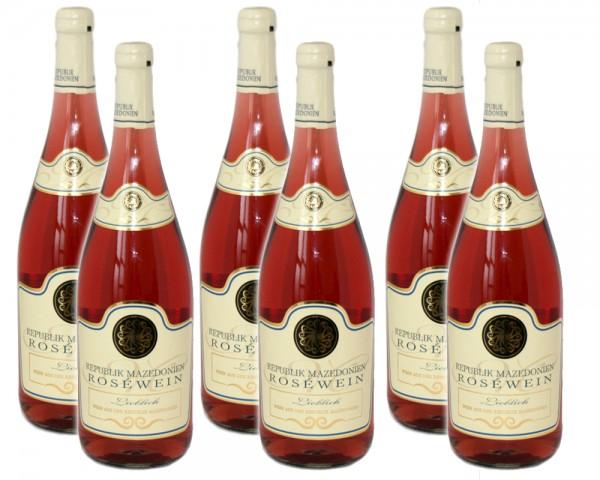 6 Flaschen Nordmazedonien Rosé, lieblich, 2019, 1,0 l