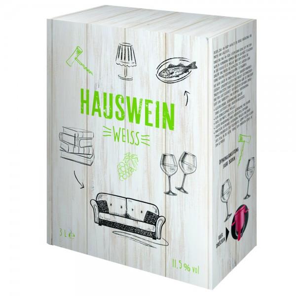 Hauswein Weisswein aus Spanien Bag-in-Box, 3,0 l