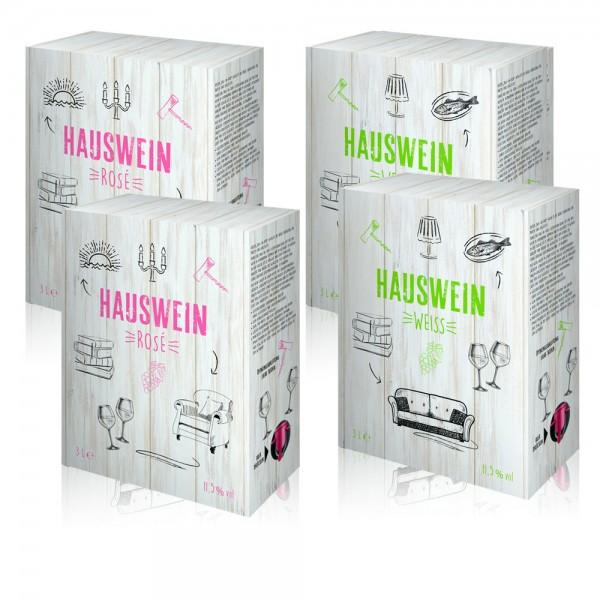 4 x 3,0 l Hauswein Rosé- & Weisswein Mischpaket aus Spanien Bag-in-Box