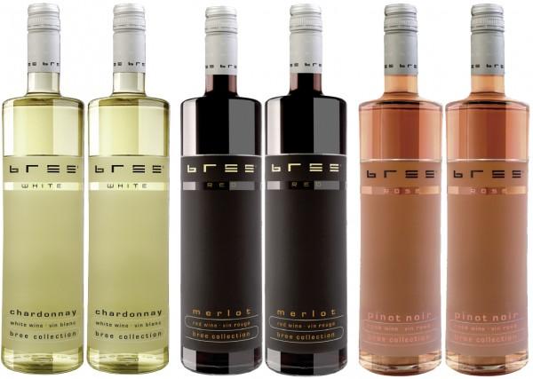 Bree Weinpaket Pinot Noir Rosé Chardonnay Merlot