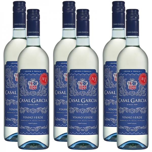 6 Flaschen Casal Garcia Vinho Verde DOC, halbtrocken