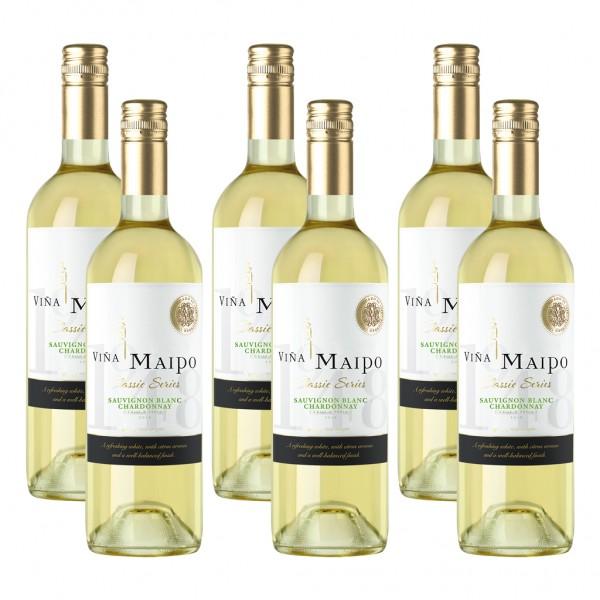 6 Flaschen VIÑA MAIPO Classic Series, Sauvignon Blanc Chardonnay, trocken, 2017, 0,75l