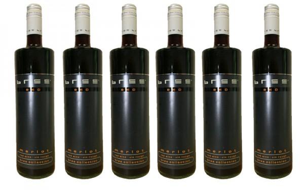 6 Flaschen Bree Merlot, Rotwein, trocken,2017, á 0.75 l
