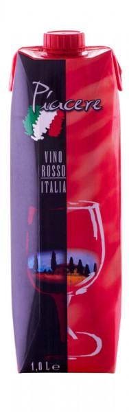 Piacere Vino Rosso Italia, Rotwein, trocken, 12x 1,0 l