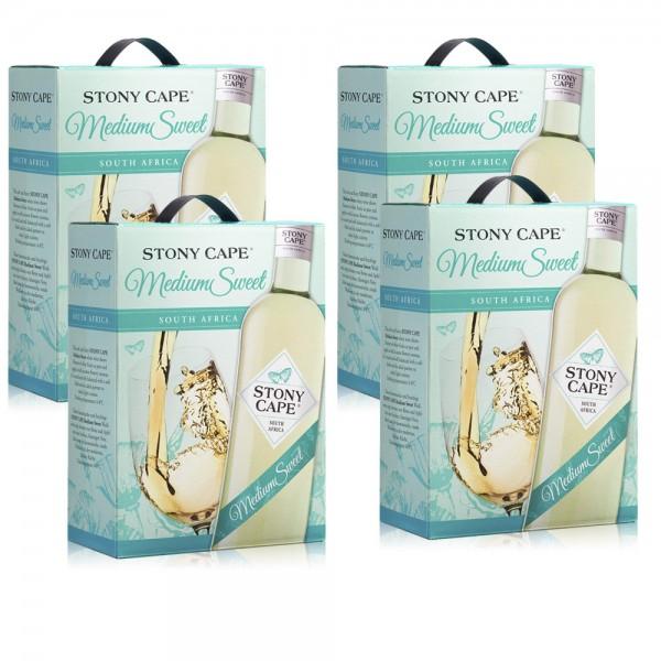 4 x 3,0 L Stony Cape Medium Sweet Weisswein Bag-in-Box