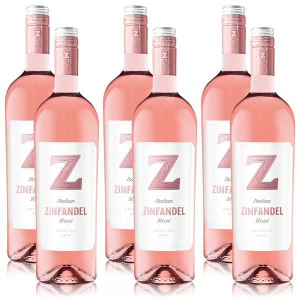 6 Flaschen Epicuro Zinfandel Rosato Italien, trocken, 2018, á 0,75 l
