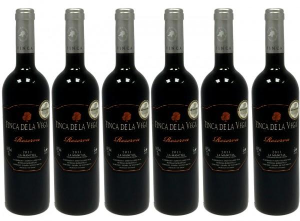 6 Flaschen Finca de la Vega Reserva La Mancha DO, trocken, 2010, á 0.75 l